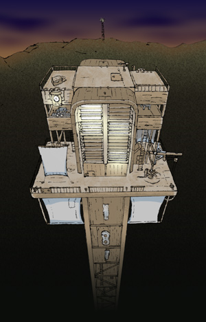 Carl Mitchell's First Clacks Tower - Click to enlarge