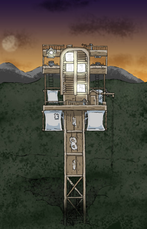 Carl Mitchell's Second Clacks Tower - Click to enlarge