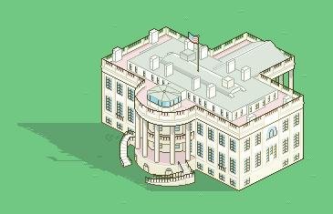 Carl Mitchell's pixelart White House