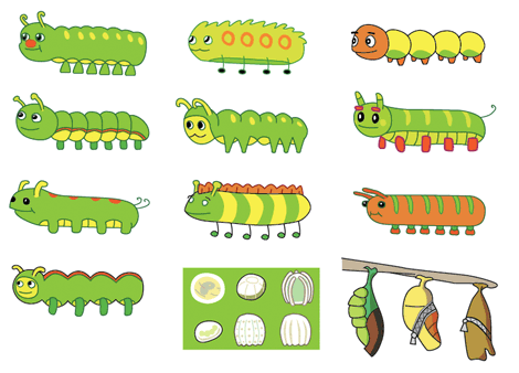 Cliffe the Caterpillar - Some concept inks