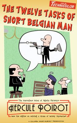 Poirot cartoon poster - click for full size