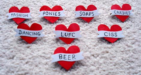 Valentines 2013 Heart Badges