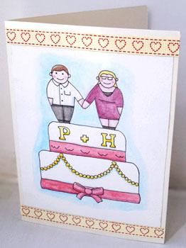 Wedding Card for Mr & Mrs West