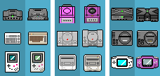 Old and new console icons