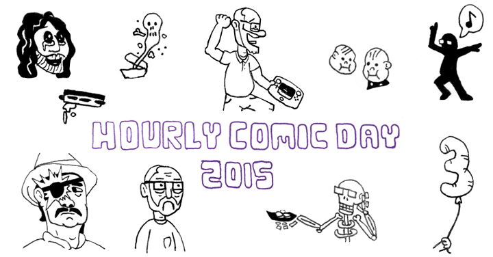 Carl Mitchell's Hourly Comic Day 2015