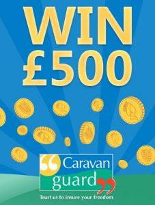 Partial artwork of Win £500 flyer