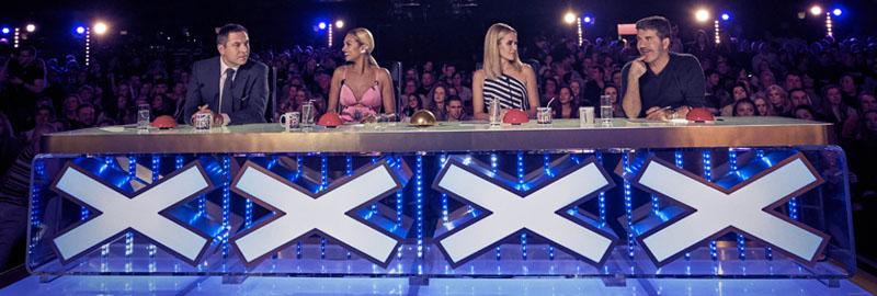The Britain's Got Talent judges' table.